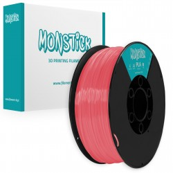 Cristal Pastel Red PLA 1,75mm Transparent